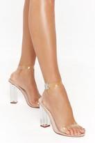Nasty Gal nastygal Clear Cross Strap Perspex Heels