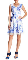 Sandra Darren Floral Fit & Flare Dress (Petite)