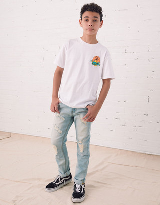 RSQ Boys Super Skinny Ripped Light Wash Jeans