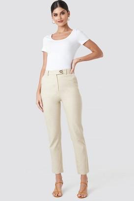 NA-KD Linen Look Suit Pants