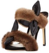 Olgana Paris Celeste Mink Fur Mule Sandal