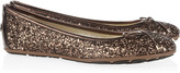 Jimmy Choo Walsh glitter-finish leather ballet flats