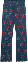 Ashish Voyage Embellished Embroidered Mid-rise Straight-leg Jeans - x small