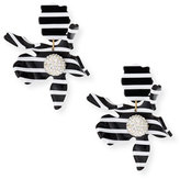 Lele Sadoughi Striped Crystal Lily Statement Earrings