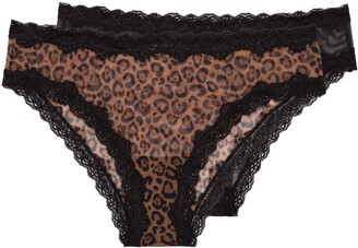 Smart & Sexy Women's Lace Trim Cheeky Panty 2-Pack