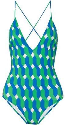 Emma Pake Tasseled Printed Swimsuit