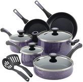 Paula Deen Riverbend Aluminum Nonstick 12-Piece Cookware Set, Lavender Speckle