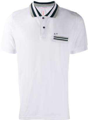 Sun 68 contrast trim polo shirt