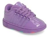 K-Swiss Toddler Girl's Classic Patent Sneaker