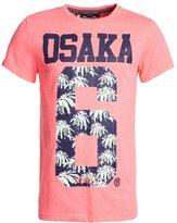 Superdry Osaka 3d Palm Print Tshirt Rose Fluo