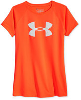 Under Armour Solid Color Logo Short Sleeve T-Shirt, Big Girls (7-16)