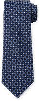 Armani Collezioni Textured Neat Circle-Print Tie