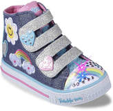 Skechers Twinkle Toes Shuffles Toddler High-Top Light-Up Sneaker - Girl's