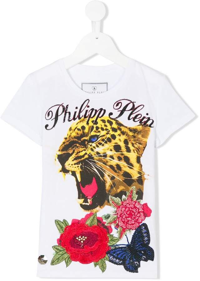 Philipp Plein Junior tiger print T-shirt