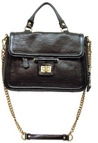 "Olivia Harris 22722"" Black Handbag With Chain Strap"