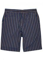 Oliver Spencer Pemberton Striped Cotton Shorts
