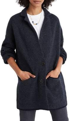 Madewell Herringbone Blazer Sweater Jacket