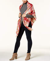 Collection XIIX College Plaid Runway Wrap and Scarf in One