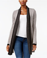 Karen Scott Tipped Open-Front Cardigan, Created for Macy's