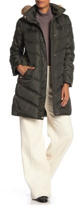 MICHAEL Michael Kors Missy 3/4 Down Faux Fur Trim Jacket