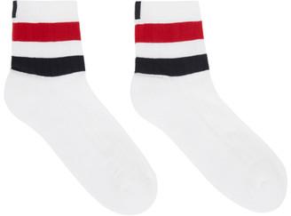 Thom Browne Online Exclusive White RWB Stripe Athletic Socks