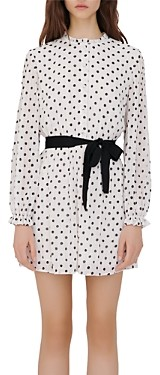Maje Rely Polka Dot Shirt Dress