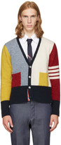 Thom Browne Multicolor Classic Four Bar Funmix V-Neck Cardigan
