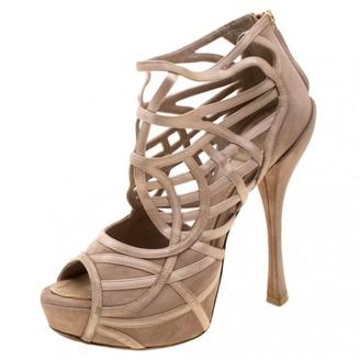 Christian Dior Beige Suede Sandals