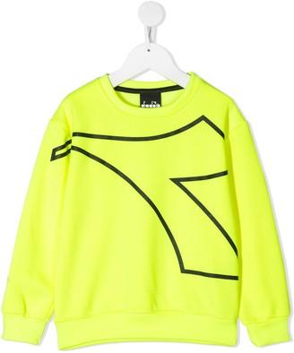 Diadora Junior Logo-Print Crew Neck Sweatshirt