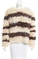 Thakoon Striped Fur Sweater