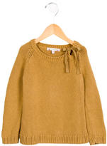 Bonpoint Girls' Knit Tie-Accented Sweater