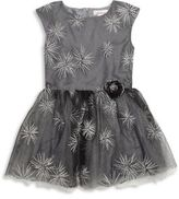 Halabaloo Toddler's & Little Girl's Star Embroidered Tulle Dress