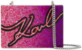 Karl Lagerfeld Signature Degrade Minaudiere clutch