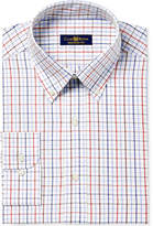 Club Room Men's Classic/Regular Fit Triple Tattersall Dress Shirt, Created for Macy's