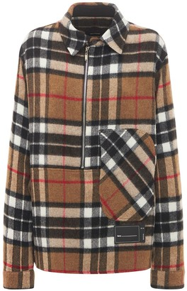 we11done Zip-up Checked Wool Shirt Jacket