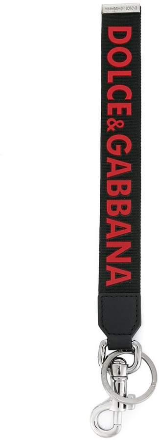 Dolce & Gabbana logo tag keyring