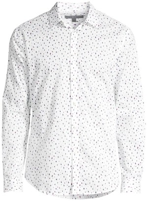 John Varvatos Slim-Fit Printed Sport Shirt