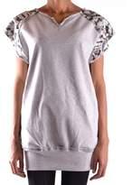 Laneus Women's Grey Viscose T-shirt.