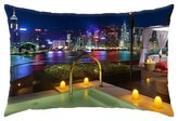 """iRocket - best room in the intercontinental in hong kong - Throw Pillow Cover (16"""" x 24"""", 40cm x 60cm)"""
