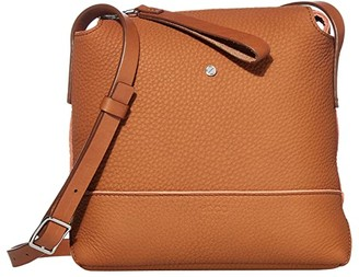 Ecco Jilin Tandem Small Crossbody (Amber/Apricot) Cross Body Handbags