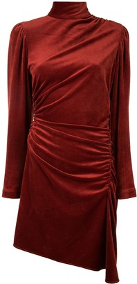 A.L.C. Velvet Asymmetric Mini Dress
