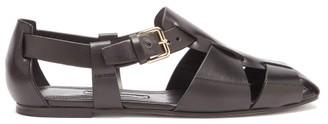 Emme Parsons Ernest Leather Fisherman Sandals - Black