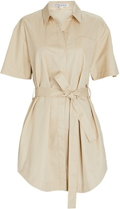 Shona Joy Amelie Poplin Mini Shirt Dress
