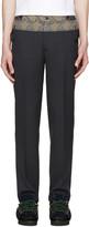 Kolor Grey Contrast Trousers