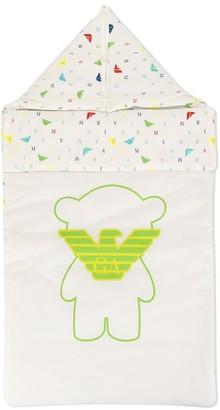 Emporio Armani Kids Logo-Print Padded Sleep Bag