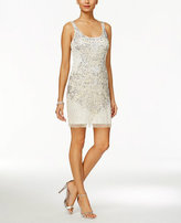 Adrianna Papell 41875490 Sleeveless Embellished Scoop Cocktail Dress