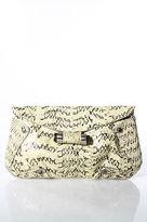 R & Y Augousti R&Y Augousti Multi-Color Snakeskin Embellishment Clutch Handbag Size Small
