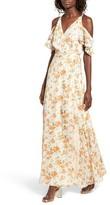 Privacy Please Women's Acme Off The Shoulder Wrap Maxi Dress