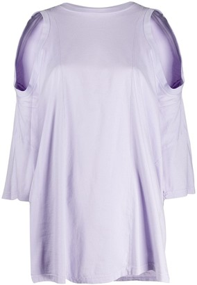 Maison Margiela Asymmetric Cold-Shoulder Top