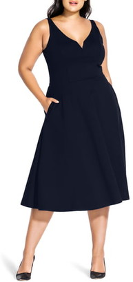 City Chic Cute Girl Fit & Flare Midi Dress